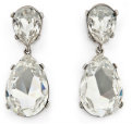 kenneth jay lane clear drop earings - RTR