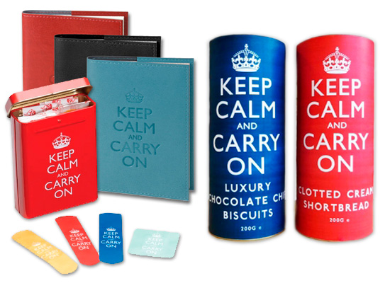 storm relief Keep Calm and Carry On Book, Cookies, Bandaid