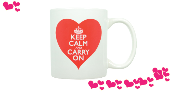 Keep Calm and Carry Mug with Heart